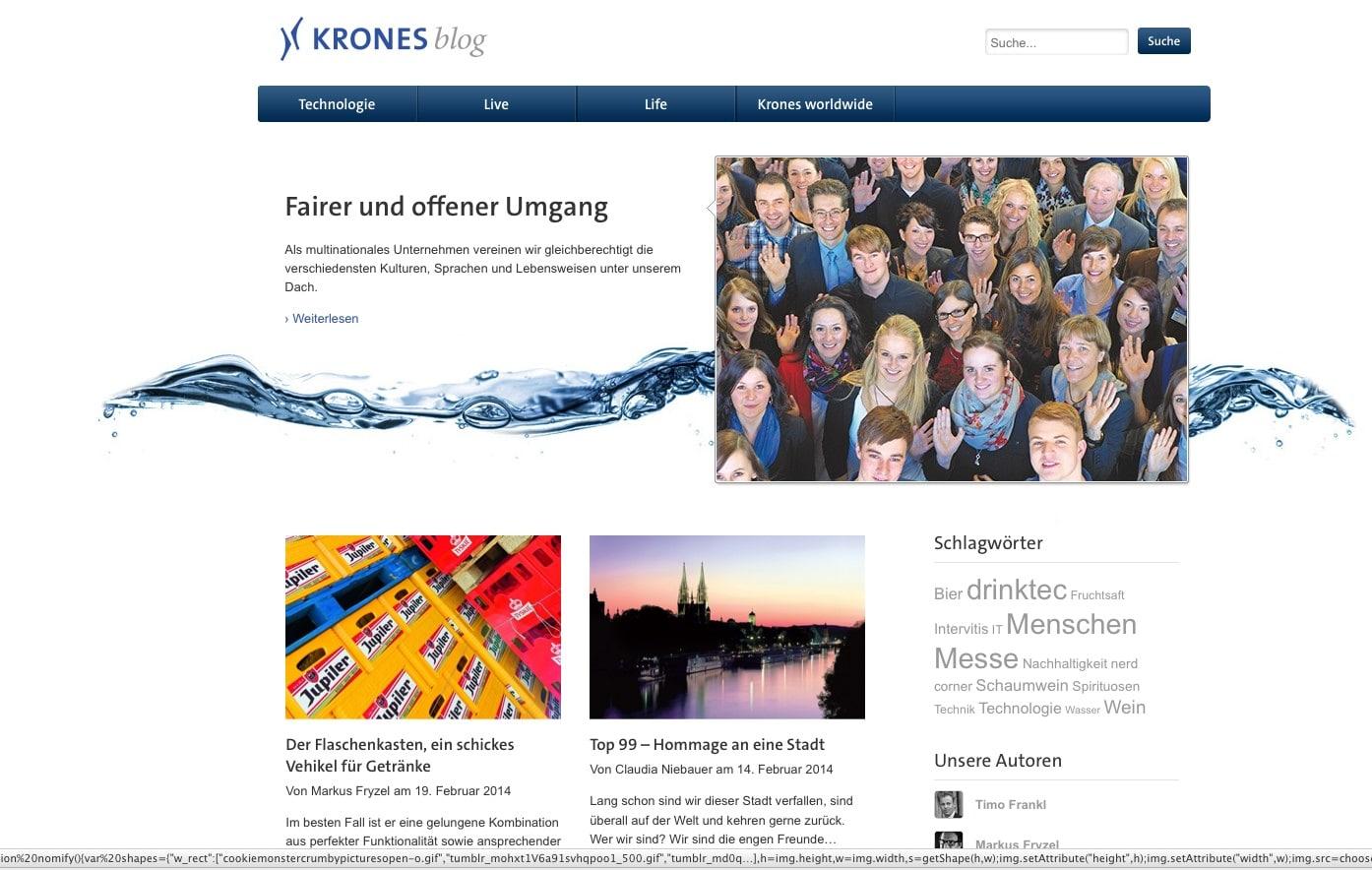 Hidden Champion in der B2B Communication: Blog der Krones KG
