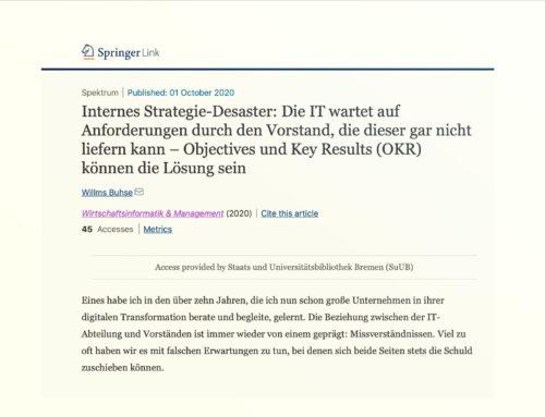 OKRs: Die Lösung für interne Strategie-Desaster zwischen IT und Top-Management